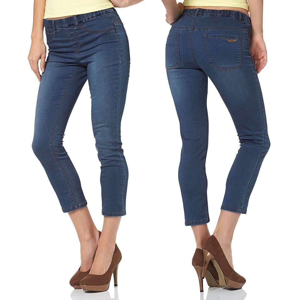Arizona 7/8-Jeans Jeggings mit Gummizug-Bund