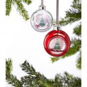 2er-Set Weihnachtskugeln